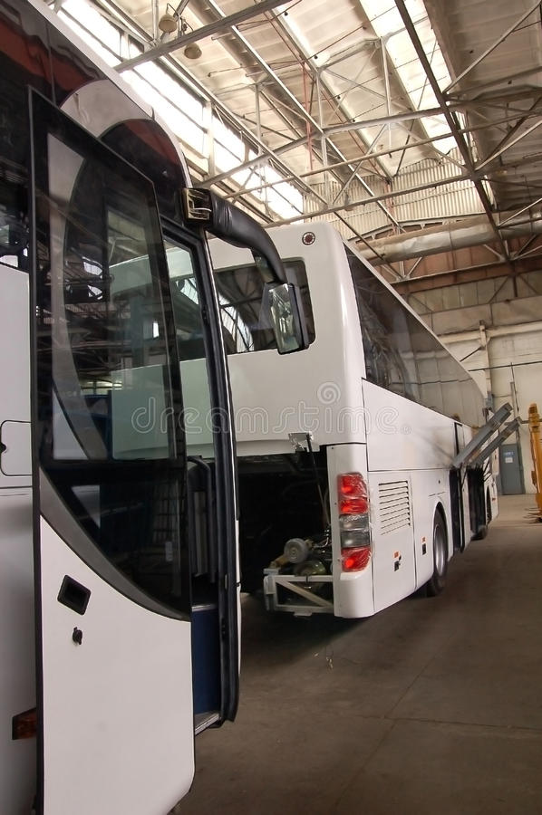 Production bus stock image