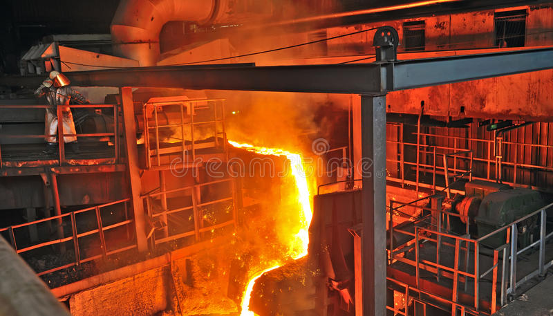 Production of cast iron stock images