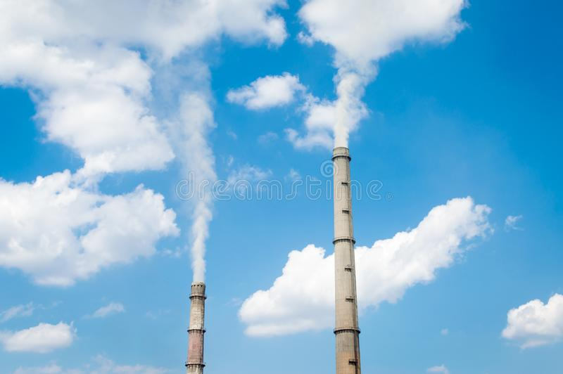 Production of clouds stock image