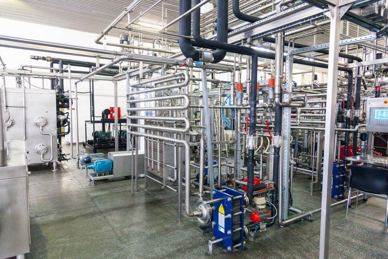 Production d'ensemble industriel spécialisé de graisses et d'additifs photographie stock