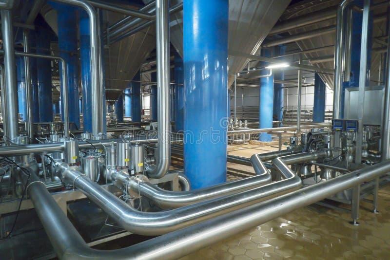 Production de brassage - département de fermentation photos libres de droits