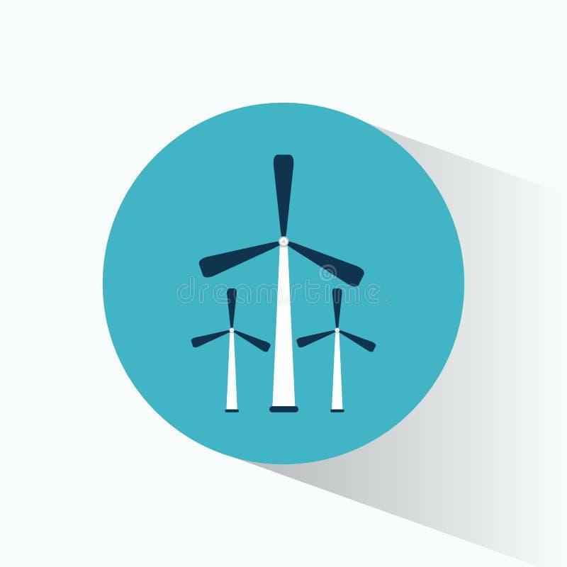 Production de générateur d'énergie éolienne trois illustration stock