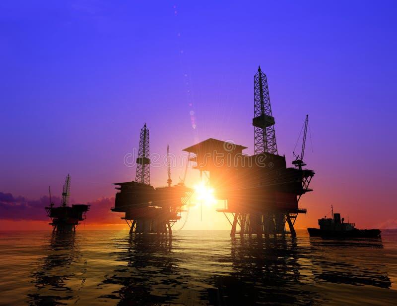 Production de pétrole image stock