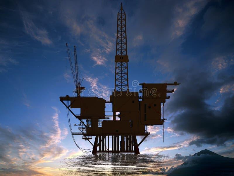 Production de pétrole images libres de droits