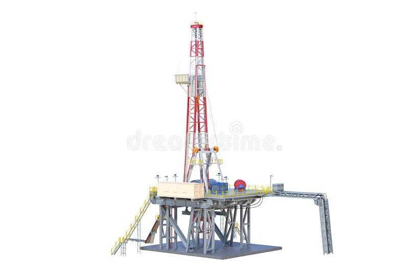 Production de pétrole de plate-forme d'installation illustration stock