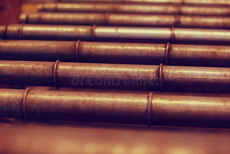 Production des constructions métalliques photos libres de droits