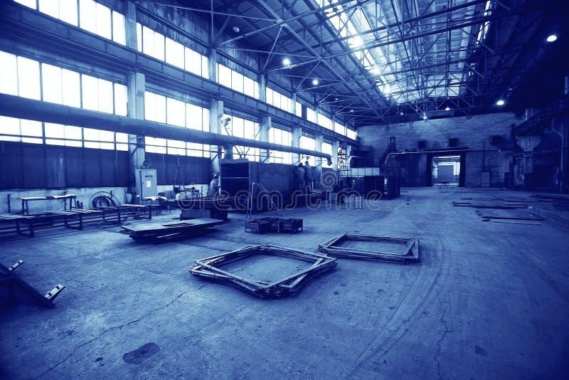 Production des constructions métalliques image libre de droits