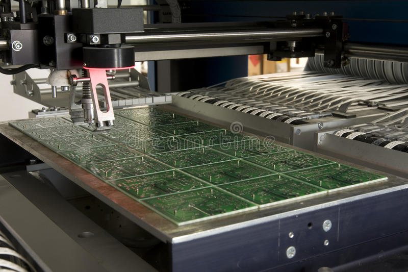 Production electronic component royalty free stock image
