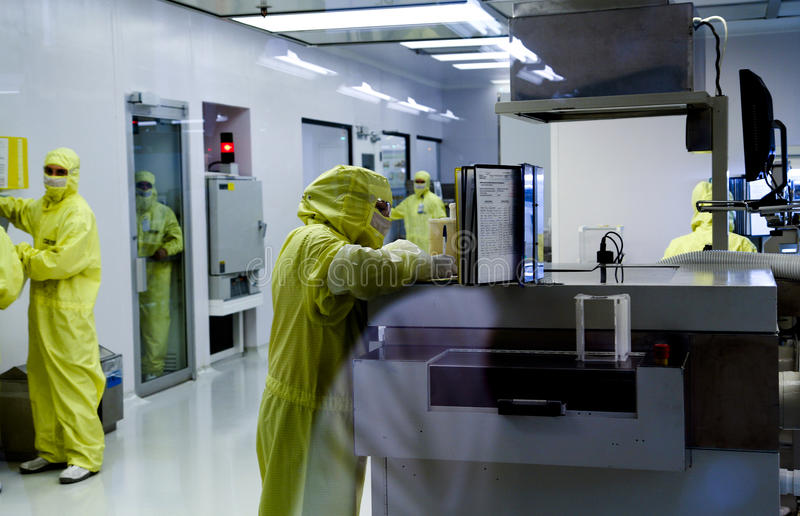 Production of electronic components stock photo