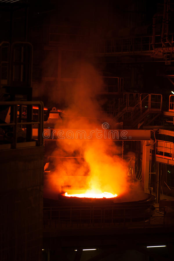 Production en acier photo stock