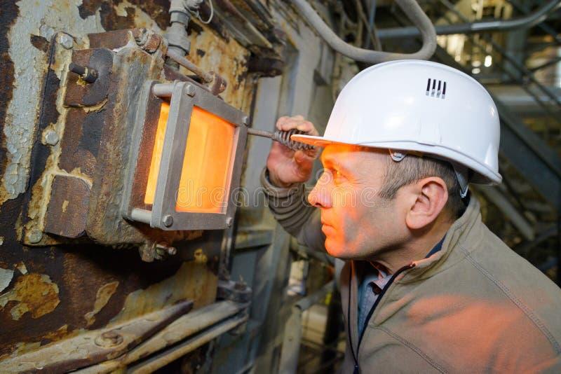 Production en acier dans le four ?lectrique photographie stock libre de droits