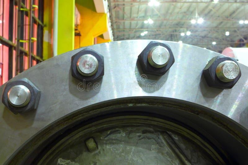 Production en acier ingénierie Équipement industriel image stock