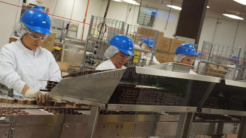 Production en Ethel M Chocolates photo stock