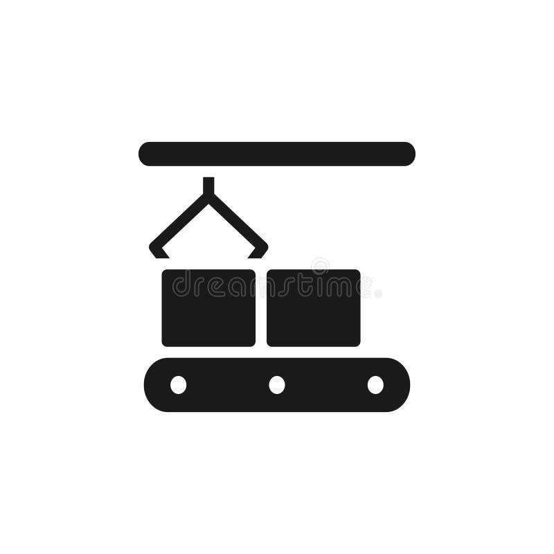 Production en série, icône de convoyeur - vecteur Illustration simple d'?l?ment de concept d'UI Production en série, icône de con illustration libre de droits