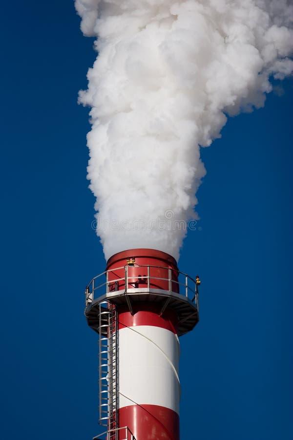 Production et pollution image libre de droits