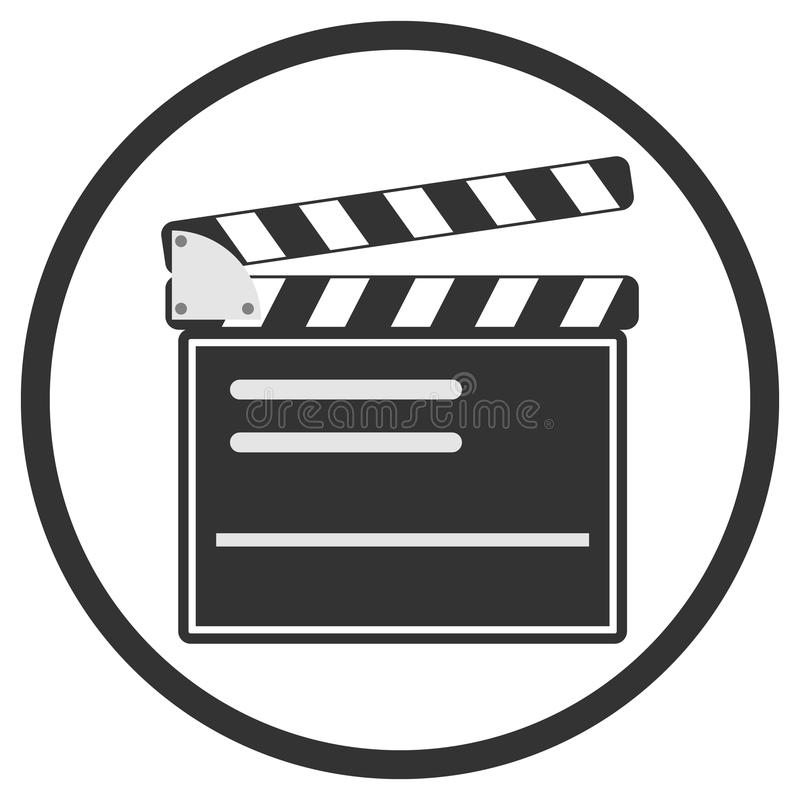 Production of the film vector illustration