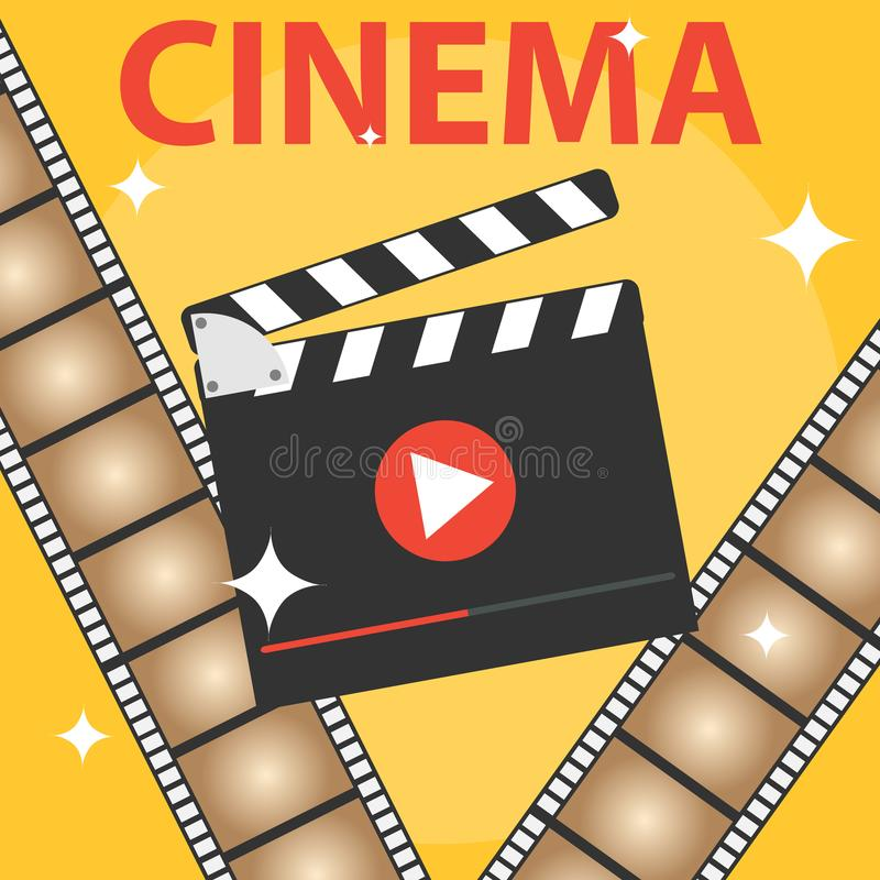Production of the film, icon of the cinema royalty free illustration