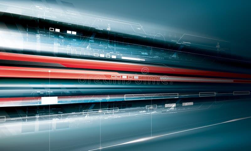 Production futuriste de technologie illustration de vecteur