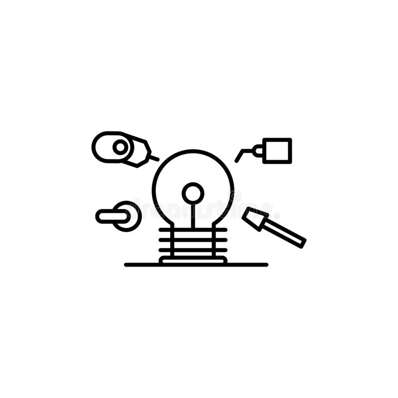 Production idea factory icon. Element of consumer behavior line icon vector illustration