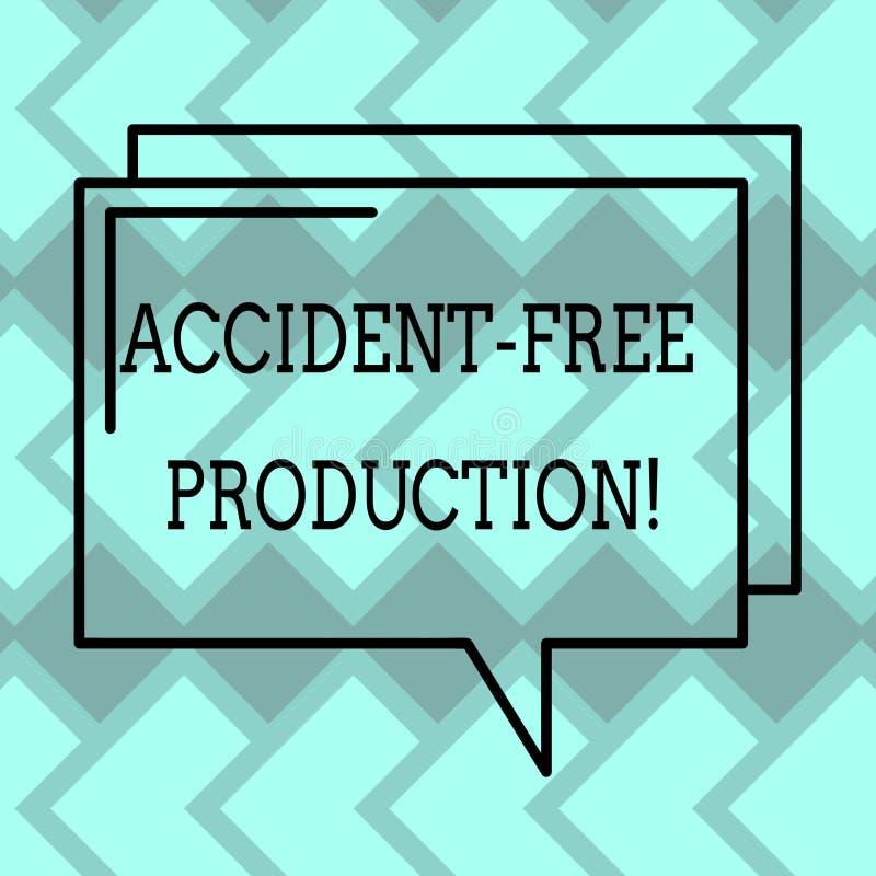 Production libre d'accidents d'apparence de signe des textes Productivité conceptuelle de photo sans contour rectangulaire blessé illustration de vecteur