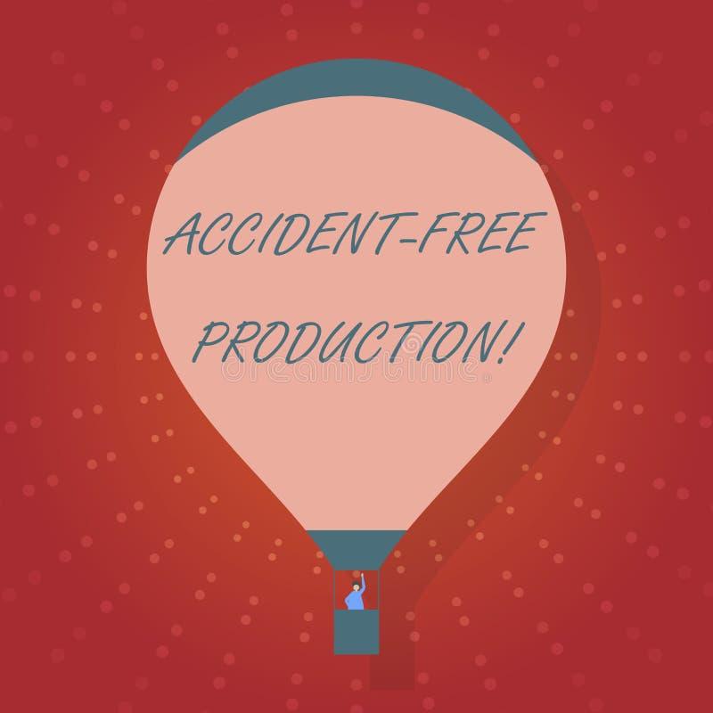 Production libre d'accidents d'apparence de signe des textes Productivité conceptuelle de photo sans travailleurs blessés aucun i illustration de vecteur