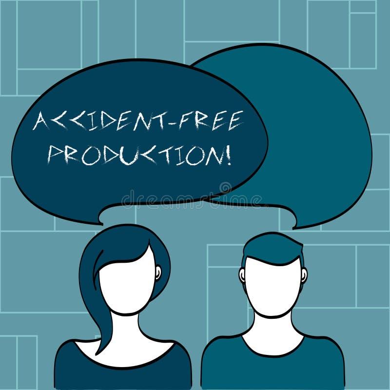 Production libre d'accidents d'apparence de signe des textes Productivité conceptuelle de photo sans travailleurs blessés aucun i illustration libre de droits