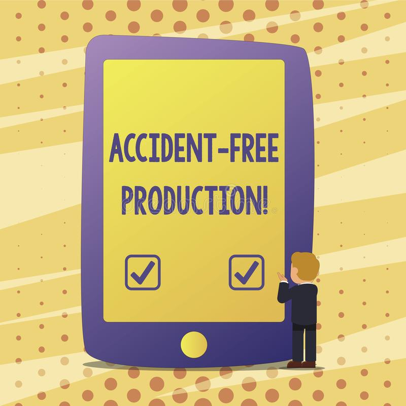 Production libre d'accidents des textes d'écriture Concept signifiant la productivité sans travailleurs blessés aucun incidents illustration de vecteur