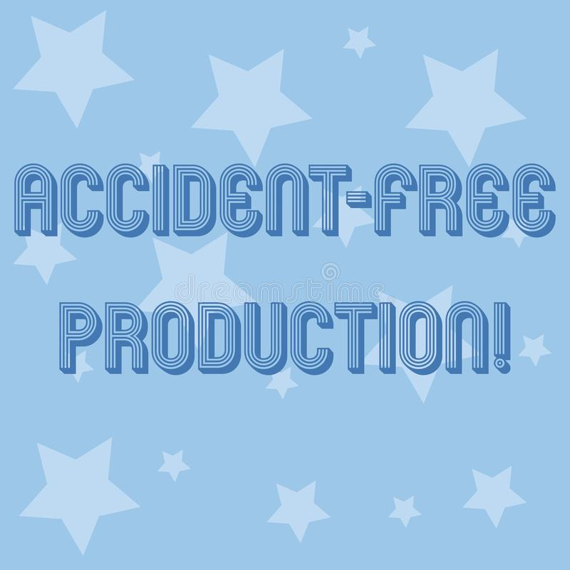 Production libre de main d'écriture d'accidents conceptuels d'apparence Productivité de présentation de photo d'affaires sans tra illustration de vecteur