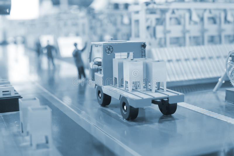 Download Production Line Model Of The Thermal Power Plant Stock Photo - Image: 26338950