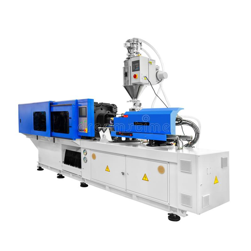 Production machine for manufacture products from pvc plastic extrusion technology royalty free stock image