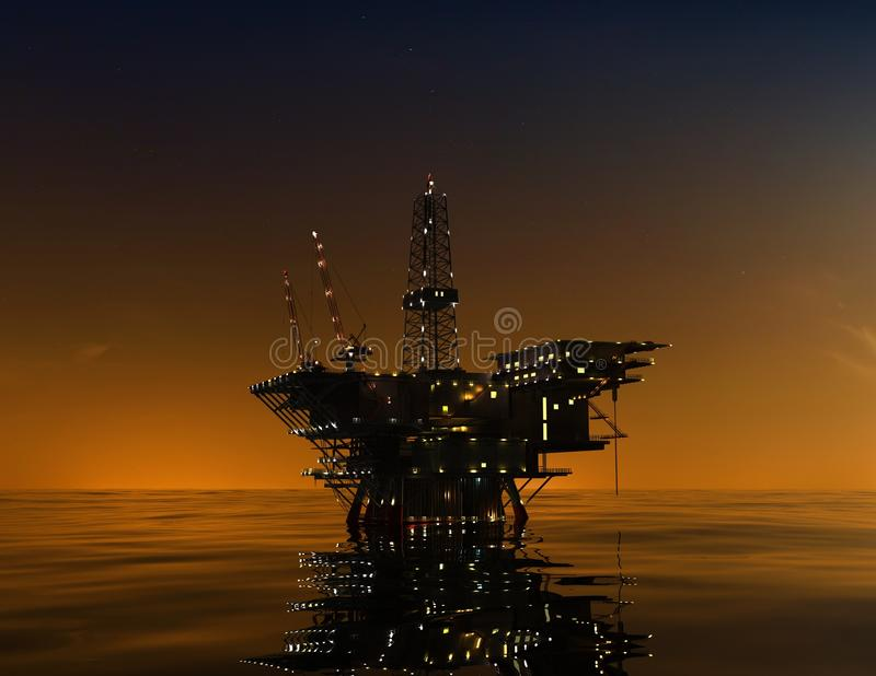 Production Of Petroleum Royalty Free Stock Images