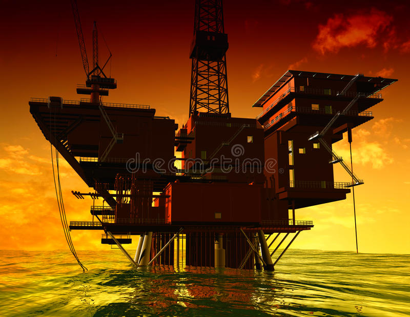 Download Production of petroleum stock illustration. Image of fuel - 9498030