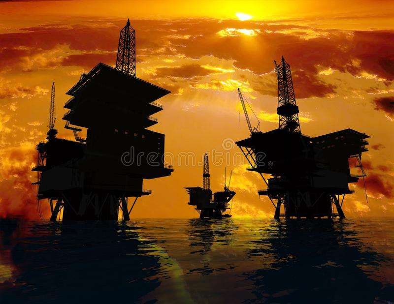 Download Production Of Petroleum Stock Photography - Image: 9500462