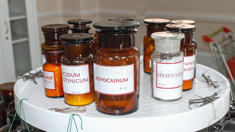 Production pharmaceutique des drogues photo libre de droits
