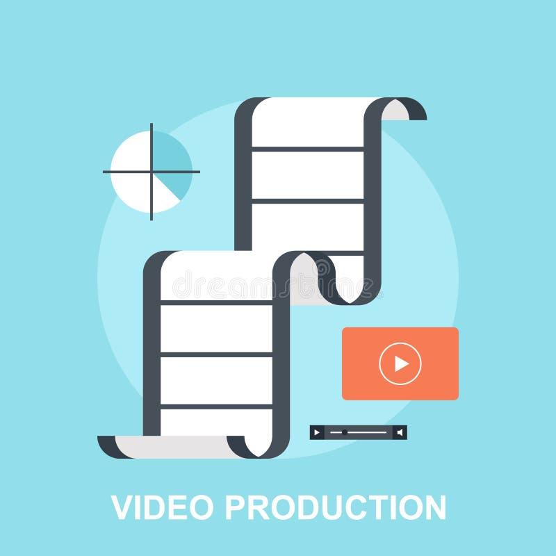 Production visuelle illustration stock