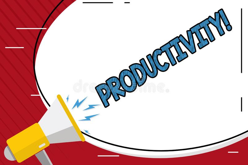 Productivité d'écriture des textes d'écriture Succès de perforanalysisce de travail efficace de signification de concept grand illustration de vecteur