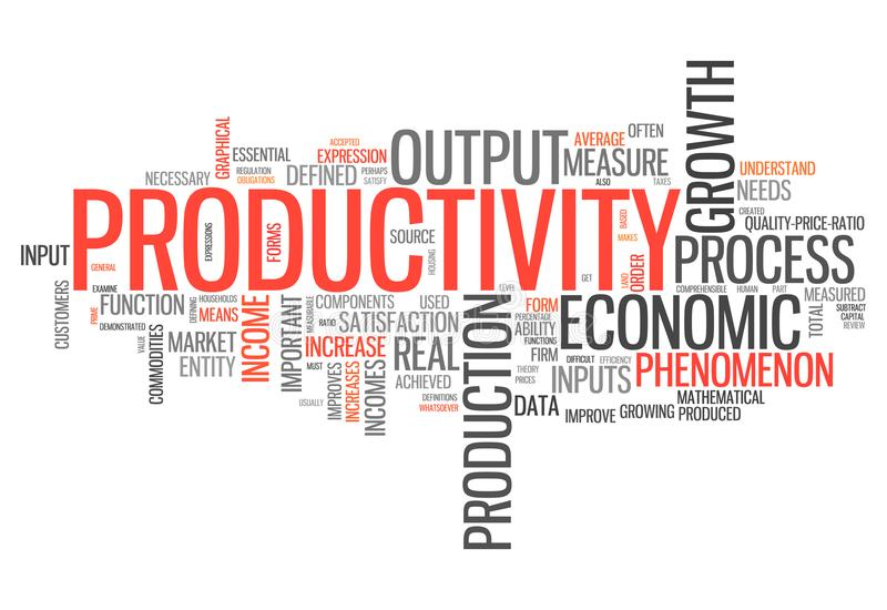 Productivité de nuage de Word illustration de vecteur