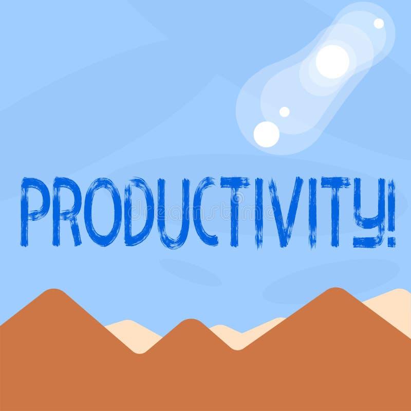 Productivité des textes d'écriture de Word Concept d'affaires pour le grand succès de perforanalysisce de travail efficace illustration de vecteur