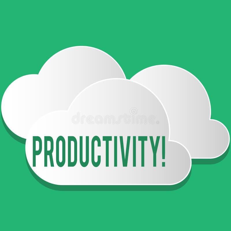 Productivité des textes d'écriture Succès de perforanalysisce de travail efficace de signification de concept grand illustration libre de droits