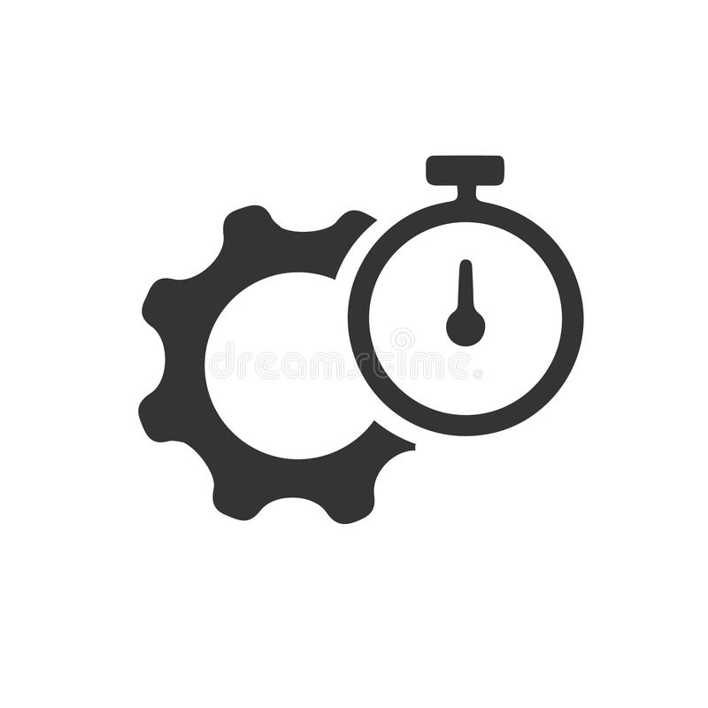 Productivité, icône de représentation illustration de vecteur