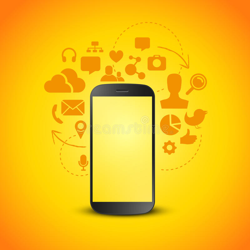 Productivité mobile illustration de vecteur