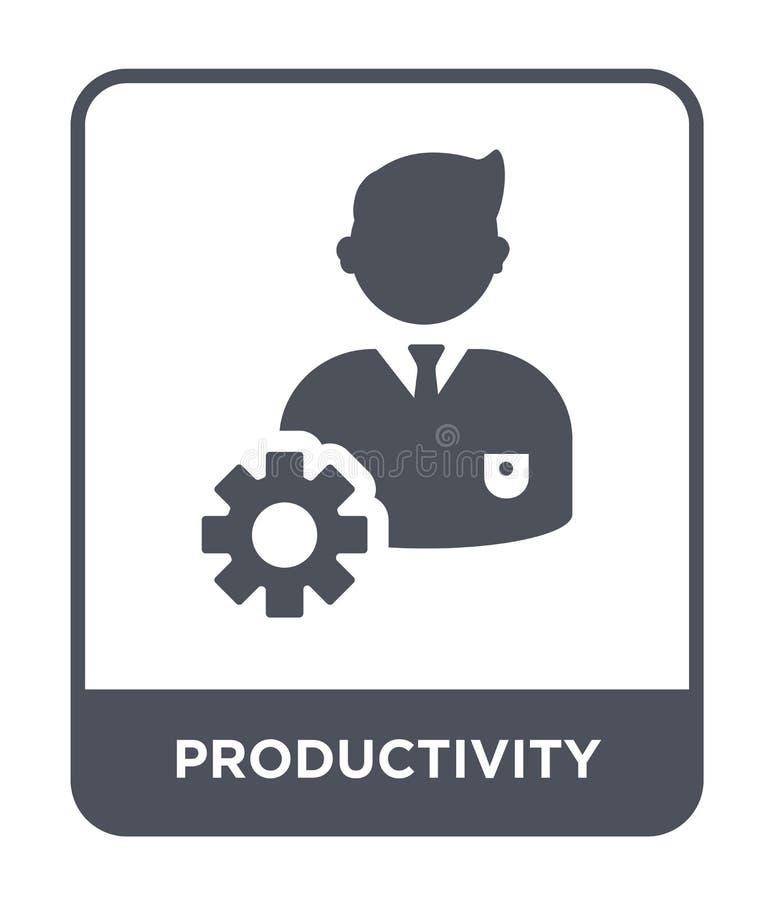 productiviteitspictogram in in ontwerpstijl productiviteitspictogram op witte achtergrond wordt geïsoleerd die eenvoudig producti stock illustratie