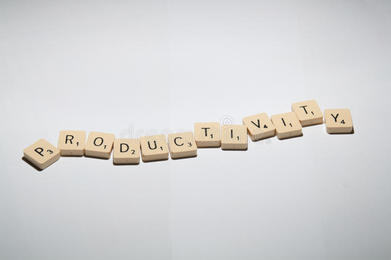 Download Productivity stock image. Image of business, scrabble - 18942315