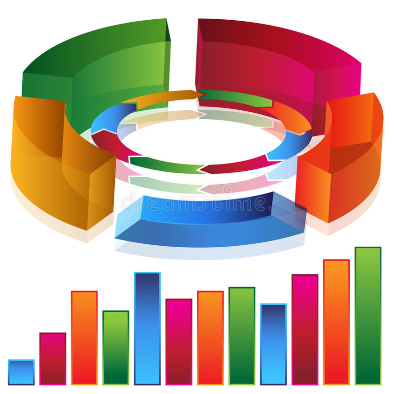 Productivity Bar Chart. An image of a 3d productivity bar chart royalty free illustration