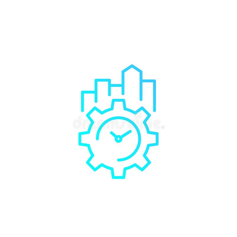 Productivity and efficiency linear icon. Eps 10 file, easy to edit stock illustration