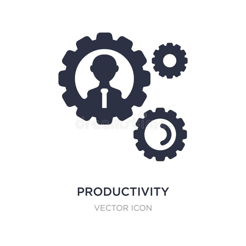Productivity icon on white background. Simple element illustration from Digital economy concept. Productivity sign icon symbol design vector illustration