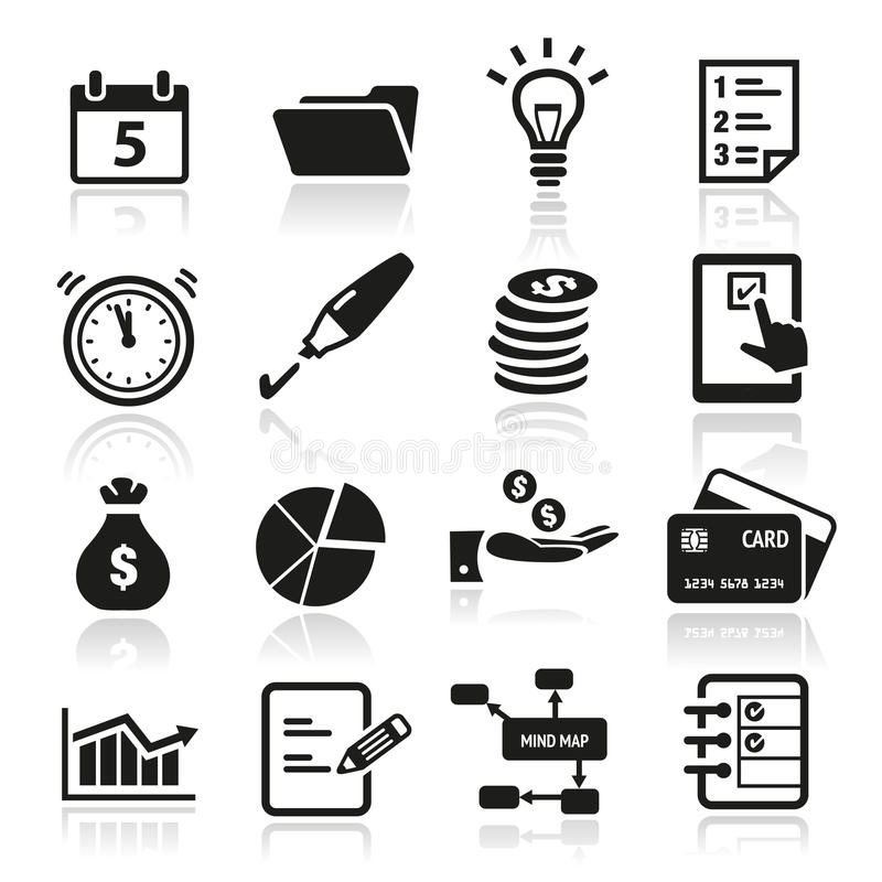 Productivity Icons. Collection of productivity and time management icons vector illustration