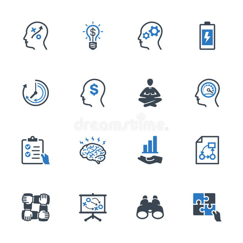 Productivity Improvement Icons Set 2 - Blue Series. This set contains productivity improvement icons that can be used for designing and developing websites, as vector illustration