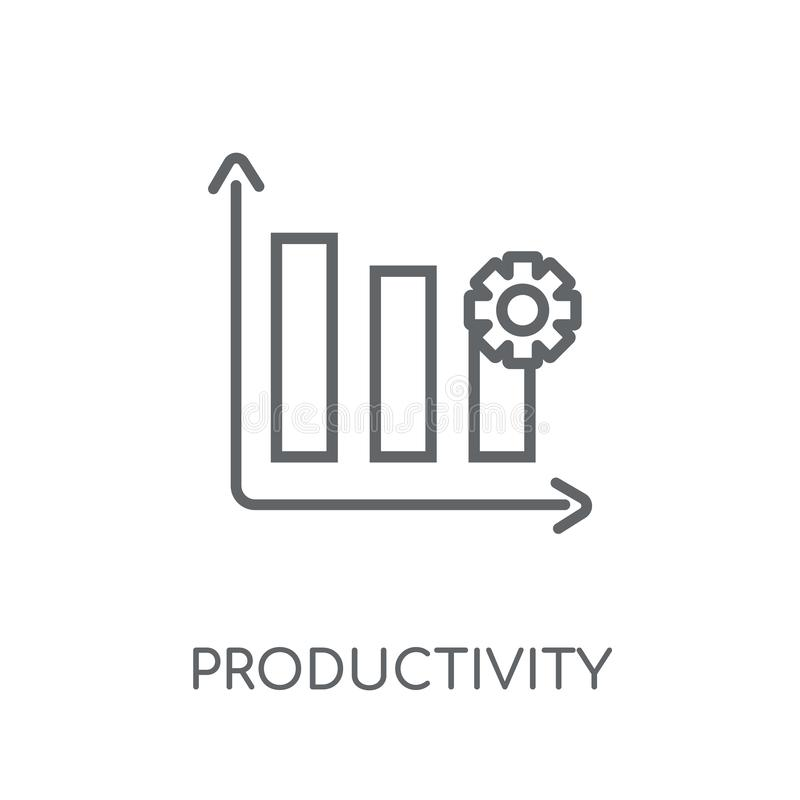 Productivity linear icon. Modern outline Productivity logo conce. Pt on white background from Productivity collection. Suitable for use on web apps, mobile apps vector illustration