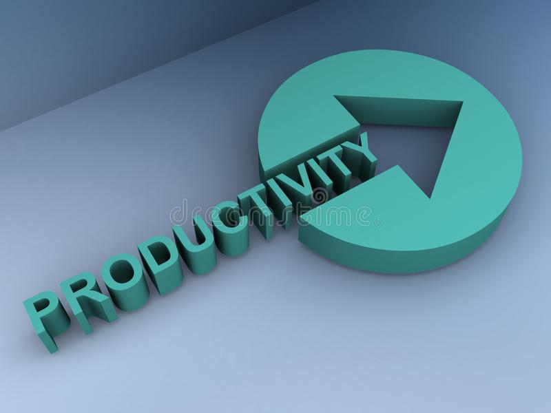 Productivity sign vector illustration